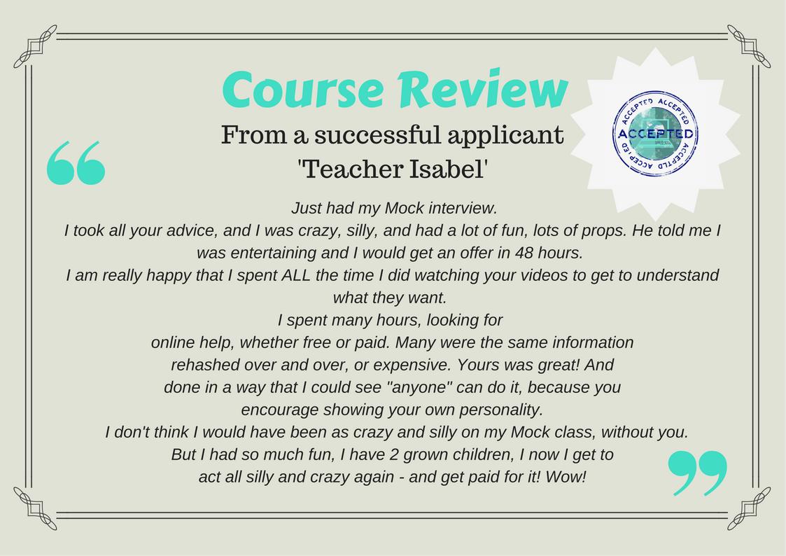 get hired as an online teacher