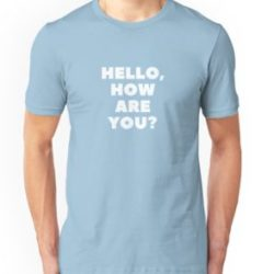 Men's 'Hello, How Are You?' Online English Teacher T-Shirt