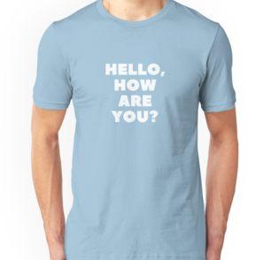 Men's 'Hello, How Are You?' Online English Teacher T-Shirt