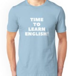 Men's 'Time To Learn English' T-Shirt