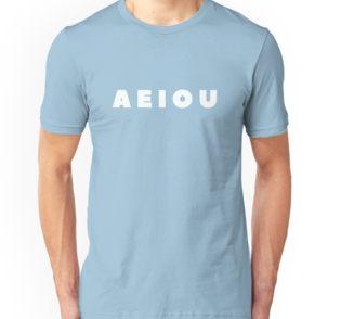 Men's 'Vowels' T-Shirt