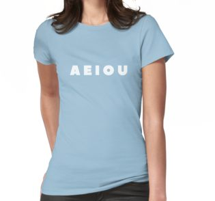 Women's 'Vowels' T-Shirt