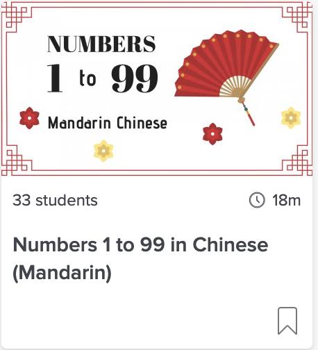 Numbers 1-99 in Mandarin